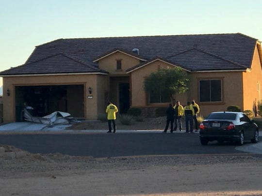 In this photo provided by the Mesquite, Nev., Police