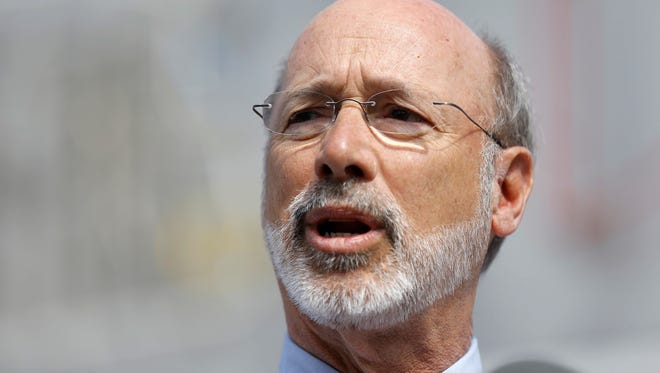 Pennsylvania Gov. Tom Wolf speaks during a news conference on Tuesday, March 8, 2016. (AP Photo/Matt Rourke)