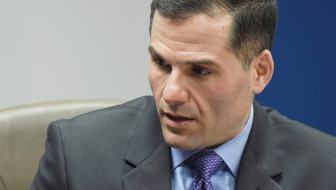 Dutchess County Executive Marc Molinaro speaks with the Poughkeepsie Journal Editorial Board.