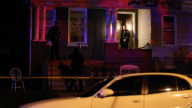 Wilmington Police investigate a stabbing that occurred in the 2100 block of North Washington Street Sunday night in Wilmington.