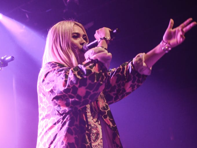 "Hayley Kiyoko in concert on ""The One Bad Night Tour"""