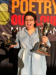 Calumet student Tajah-Rayne Davise won the Poetry Out