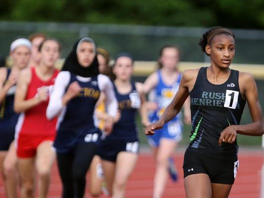 2015 Rush-Henrietta outdoor track and field Sammy Watson - 1,500 at state ch