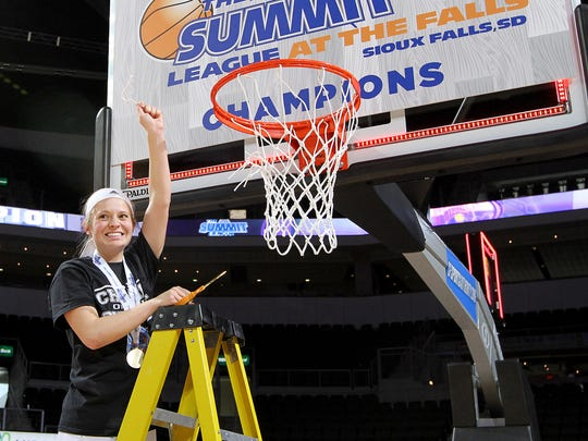 SIOUX FALLS, SD: MARCH 7: Tournament MVP Emily Clemens