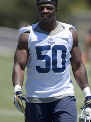 Linebacker Samson Ebukam could be one of the linebackers to help fill the Rams' need for an edge rusher.