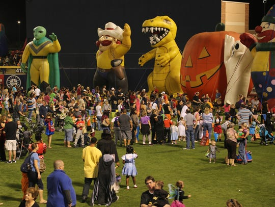 Inflatables, costume contests, carnival games, food,