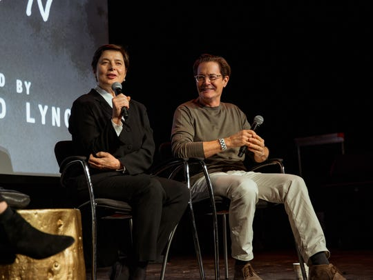 Isabella Rossellini, left, and Kyle MacLachlan at the