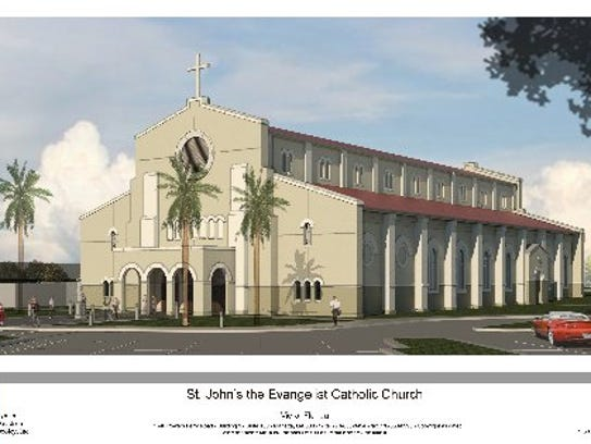 An artistic rendering of the new St. John the Evangelist