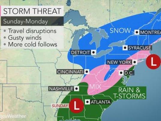 Weather forecast Super Bowl Sunday