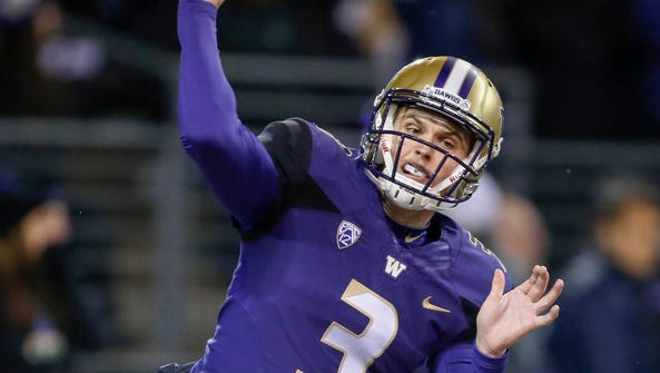 Washington Huskies quarterback Jake Browning.
