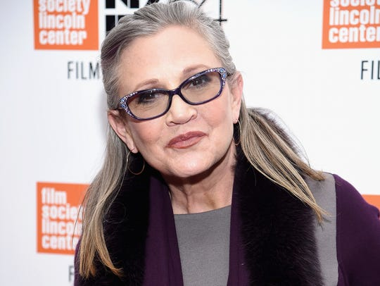 The late Carrie Fisher was last seen on screen last