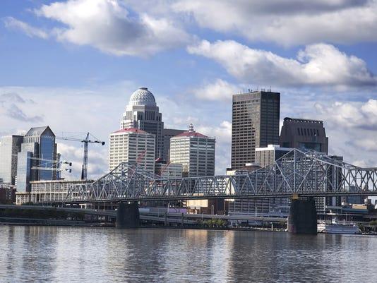 Louisville Skyline - Clark Bridge