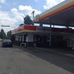 Gas station on Providence Road where suspect stopped