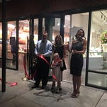 A crowd attended the grand opening of Moonrise Jewelry and At Altitude Gallery in Cape Charles on Friday, Nov. 6, 2015.