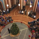 A community prayer was held in the Capitol rotunda on Sunday to stand against hateful language toward Muslims.