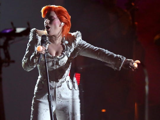 Lady Gaga performs a tribute to David Bowie.