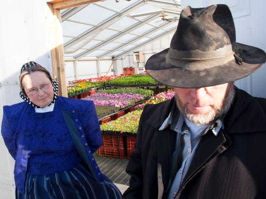 Paul was the garden manager and the German teacher. He and his wife, Frieda, work closely together in the greenhouse where the seeds were sown earlier in the spring for the petunias that are now ready to go to market.