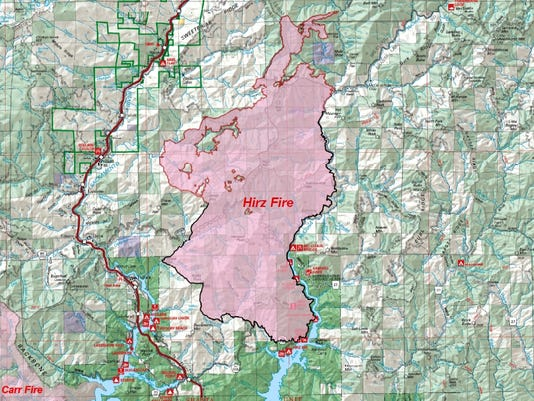 Hirz Fire Near Lake Shasta Burns Nearly 4 000 Acres In A Day
