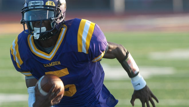 Camden's Khalil Williams has emerged as one of the region's premier quarterbacks. With 72 career touchdown passes, he's second in South Jersey history behind only Dylan Cummings of Pennsville (84).