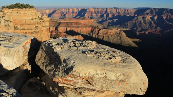A variety of fascinating formations can be seen from Walhalla Overlook at the North Rim of Grand Canyon National Park.