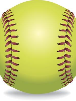 Vector Softball Isolated on White Illustration