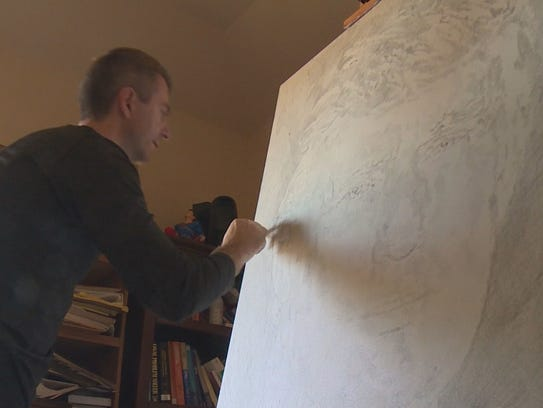 Artist Alex Krasky is taking his love for art and mixing