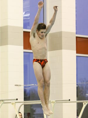 Brighton's diver Cade Hammond earned his first All-State distinction at the Division 1 state meet on Saturday.