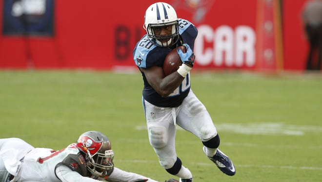 Titans running back Bishop Sankey's playing time has dwindled since a strong start in the season opener at Tampa Bay.