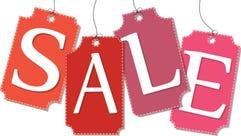 Sale. Price labels