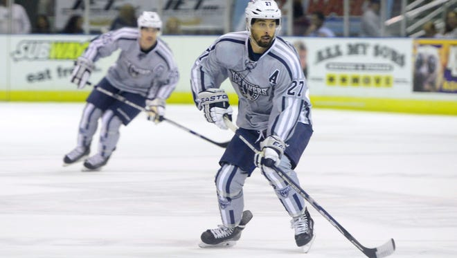 The Ice Flyers Corey Banfield won the SPHL scoring title and is part of the team's top scoring line heading into Thursday's Game 1 of the SPHL playoffs against Huntsville.