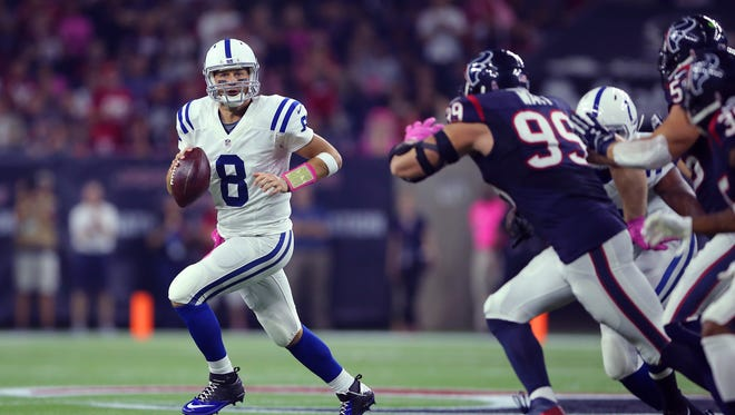 A sick Matt Hasselbeck helped the Colts past the Texans on Oct. 8 in Houston.