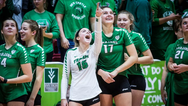 New Castle defeated Brebeuf 3-0 in their state final game at Worthen Arena Saturday, Nov. 4, 2017.
