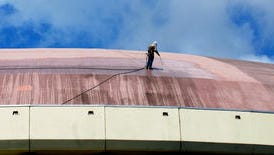 The Cajundome roof will be re-coated as part of a renovation project.