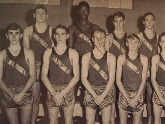 Quinton Hayes, back row, ran on the Clarksville High