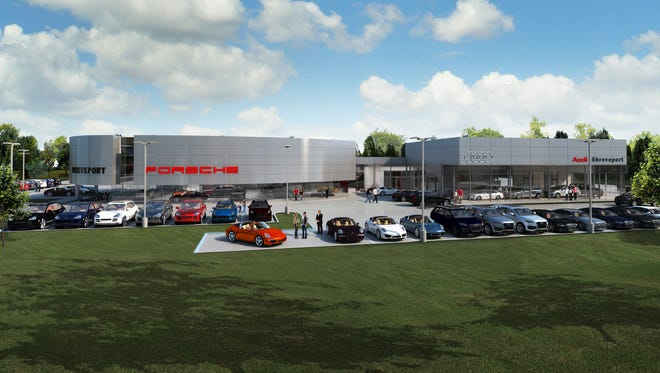 A conceptual rendition of the new Audi and Porsche dealerships in Shreveport