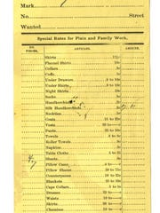 More than just a turn of phrase, this laundry list issued by the Salem Steam Laundry in 1891 has a lot to say about Salem's past.