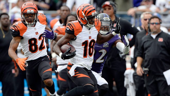 Bengals WR A.J. Green tends to have big games against the Ravens.