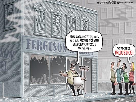 The smoke clears in Ferguson