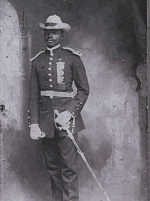 """Edward Pearson, Troop """"B"""" of the Ninth Calvary Division, U.S. Army."""