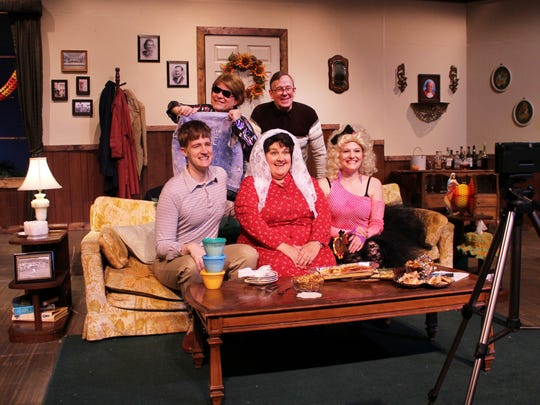 "The cast of ""Making God Laugh"" at Old Creamery Theatre."