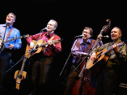 The Brothers Four on stage: From left, Mark Pearson,