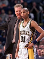 Indiana Pacers coach Larry Bird shared strategy with