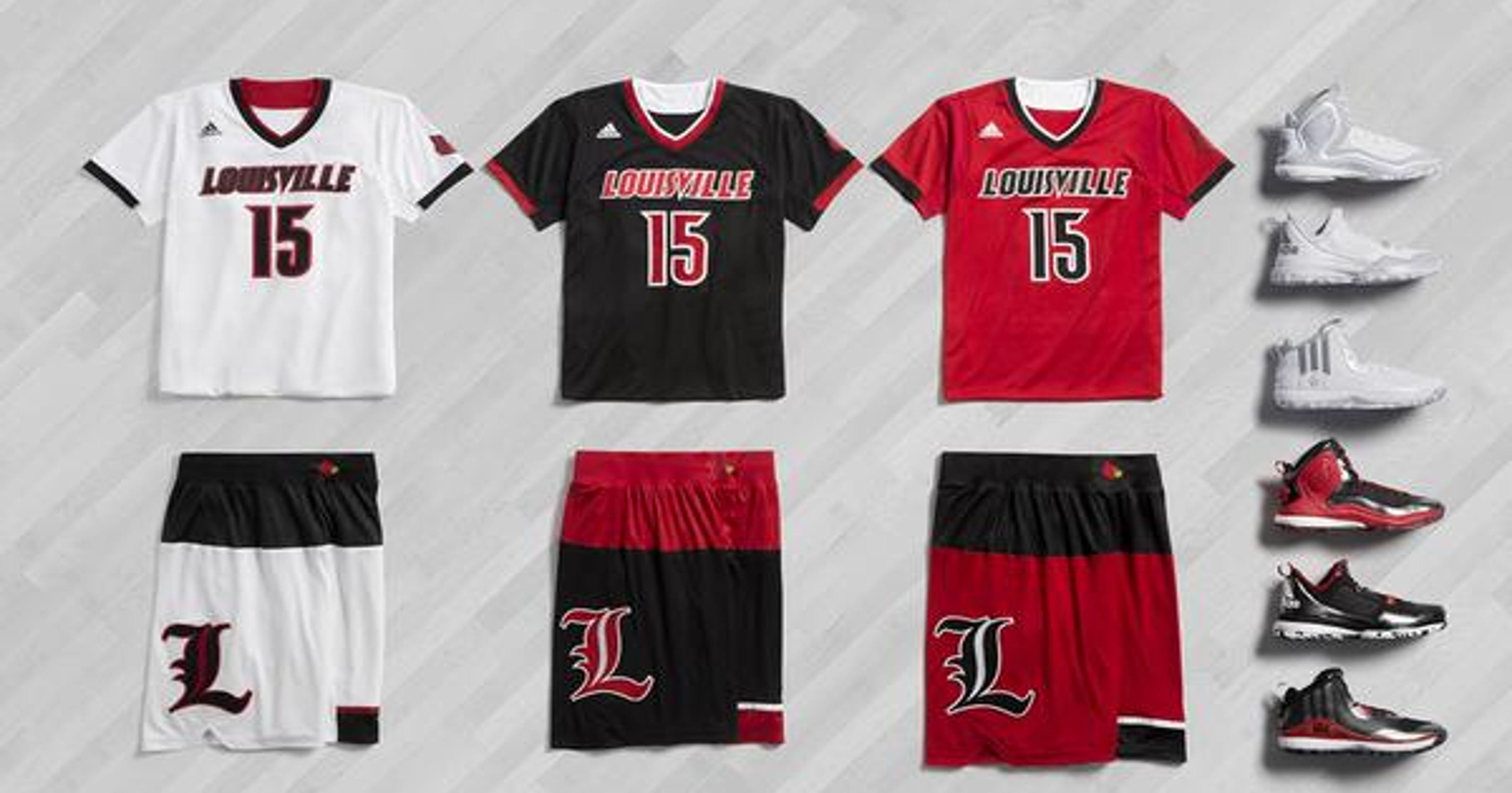 0084a6105 Louisville basketball s postseason adidas jerseys revealed