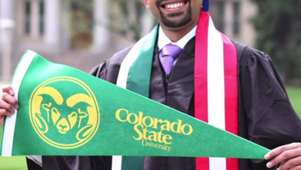 Jasir Sulaiman Mayat received his degree in Business Administration with a concentration in Accounting in May, making him the first CSU INTO Undergraduate Pathway student to graduate.