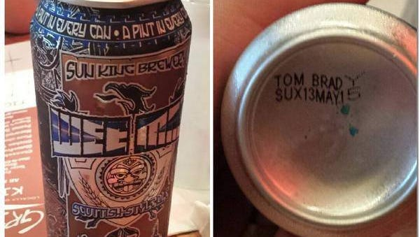 Sun King Brewery says the born-on Tom Brady jab wasn't a company plan.