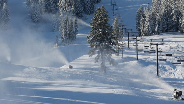 A weekend snow is expected to bring snow to Oregon's mountains. This image is from Mount Bachelor Ski Area on Thursday.
