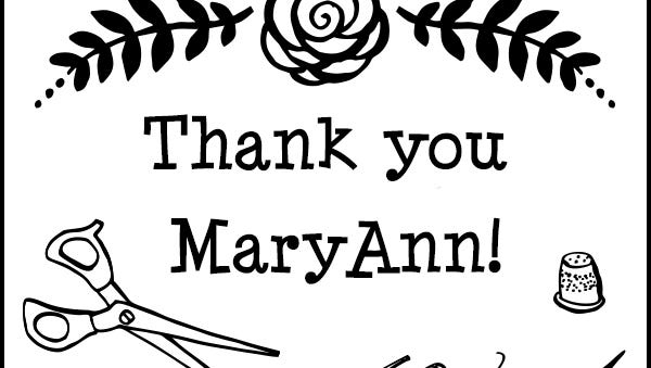 Thank you, MaryAnn.