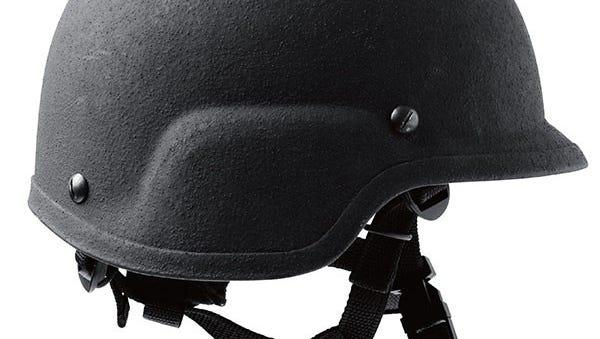 An example of a bulletproof helmet.