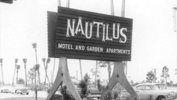 """In 1963, two episodes of the popular TV series, """"Route 66,"""" was filmed at the Nautilus, Cape Coral's first motel."""