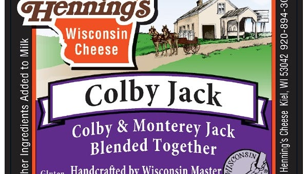 Henning's Cheese in Kiel announced a voluntary recall Wednesday of a limited amount of its Colby Jack cheese.